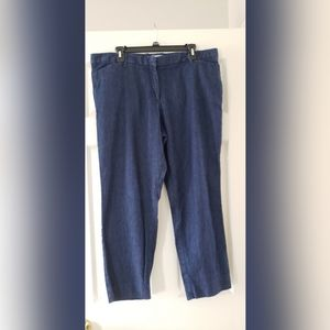 Gap slim cropped blue denim pants 16